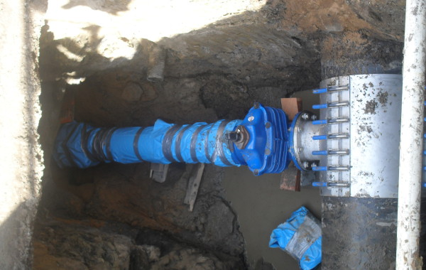 750 mm connection watermain