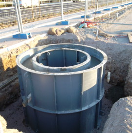 1200 manhole over existing sewer