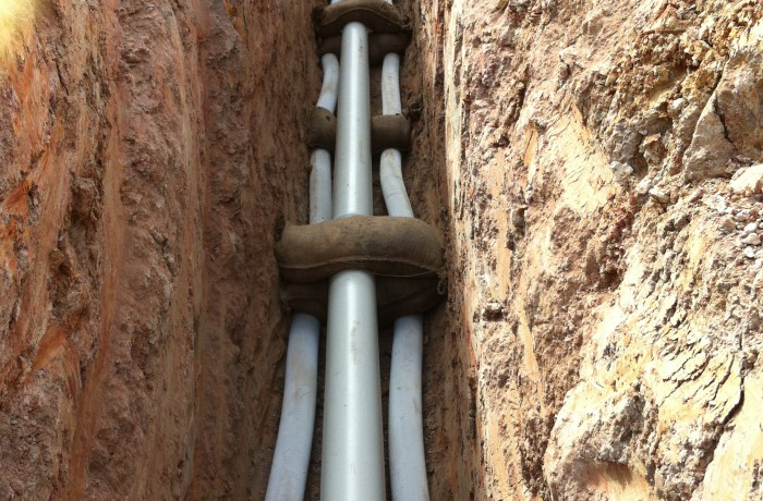Concrete encasement existing sewer